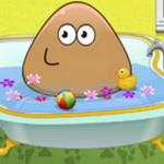 Pou Baby Bathing